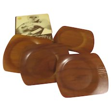 Overton Servette Genuine Bentwood Canape Trays - b268