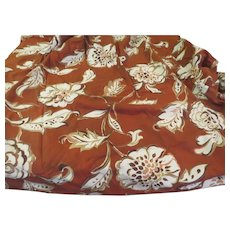 Bold flowers on Brown Curtain Panel - b269