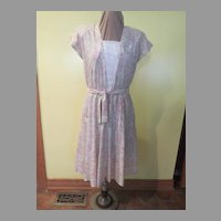 Pastel Print Shirtwaist Dress