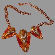 Glitzy Rhinestone and Bead Necklace - 02 - Free shipping