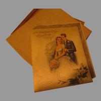 Wedding Keepsake Greeting Card - b284