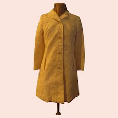 Stitched and Tufted Coat and Dress Ensemble