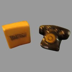 Phone and Directory Salt and Pepper Shakers - b285
