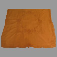 Ecru Crocheted Insert Tablecloth - b265