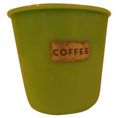 McKee Jadeite Coffee Canister with Lid - b287