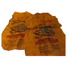 Diamond Potato Burlap Sacks - b286
