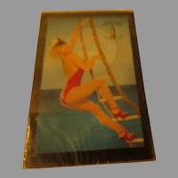 Cutty Sark Scots Whisky Blond on Rope Ladder Pin-up Playing Cards - b288