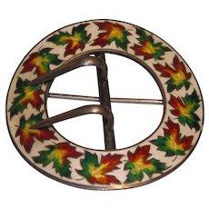 Maple Leaf Enamel Belt Buckle/pin - Free shipping
