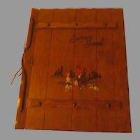 Tally Ho Fox Hunt Wood Carved Scrapbook - b288