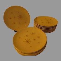 Royal Star Glow Mid-Century Dinner Plates - g