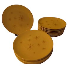 Royal Star Glow Mid-Century Dinner Plates - g