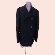 Buttoned Up Navy Blue Pea Coat