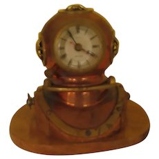 Diver's Helmet ship's clock - b289
