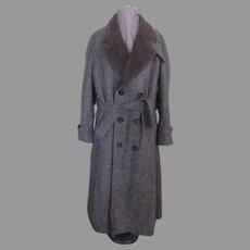 Brown Tweed Extra Warm Overcoat