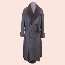 Brown Tweed Extra Warm Overcoat