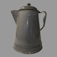 Gray Granite Enamel Coffee Pot - g