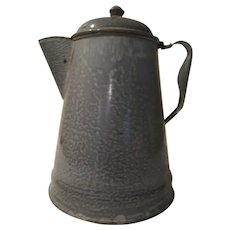 Gray Granite Enamel Coffee Pot - g