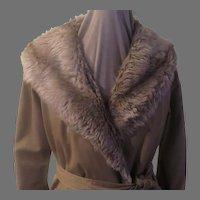 Forecaster Faux Fur Wrap Coat