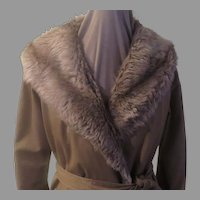 Forecaster Faux Fur Wrap Coat