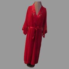 Red Kimono Peignoir Set