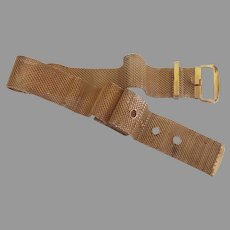 Glistening Gold Tone Mesh Belt