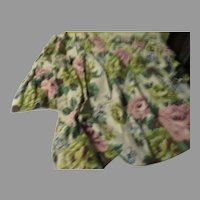 Pink Flower Barkcloth Cafe Curtains with Valance - L10