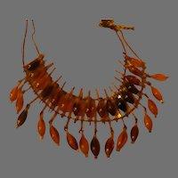 Beaded Fringe Choker Necklace - 02 - Free shipping