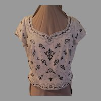 Silk Sequin and Beaded Top/blouse