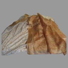 Golden Paisley Border Sari/fabric - l4