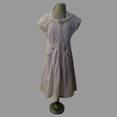 """Bodice on the Bias """"Top Made'' Dress"""