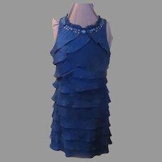 Ruffled teal dress