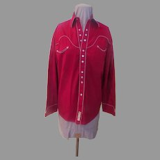 Red Larry Mahan Cowboy Collection Shirt