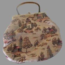 Glitter Dusted Fabric Handbag/purse - b291