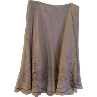 Swirling Circle Sequin Skirt
