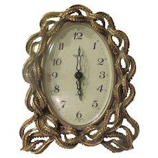 Braided Rope Boudoir Clock - b291