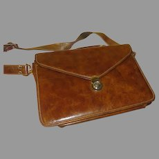 Timothy Oulton Leather Messenger/Document Bag - b292