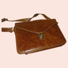 Timothy Oulton Leather Messenger/Document Bag - b292