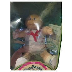 Blue eyes with a Bald head Rory Kelsey 1985 Cabbage Patch Doll