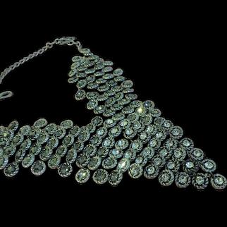 Rhinestone V-Bib Necklace - Free shipping