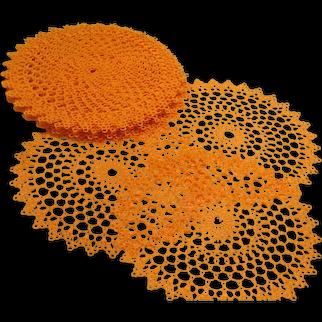 Orange Ya Glad Plastic Doilies - b293