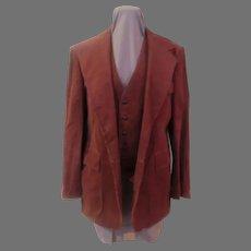 Rust Corduroy Scott Grey LTD, 3 Piece suit