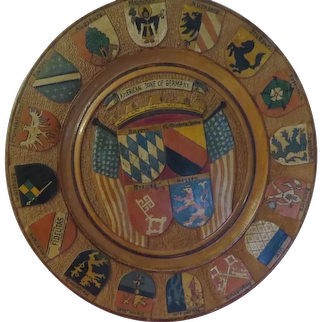 American zone of Germany Wood Plaque - b