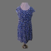 Abstract Black and Blue Dress - b