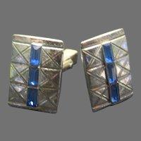 Anson Blue Stone Cufflinks - Free shipping - br