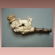 Beautiful and rare vintage Meerschaum cigarette holder