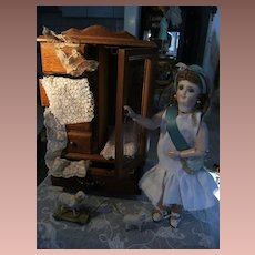 Beautiful Cabinet for your Fashion doll or French and German Dolls.