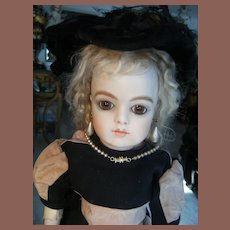 Beautiful old BeBe Dress and Hat for a Bru,Jumeau,Steiner,F.G, from 34 cm or 13,4 inch.