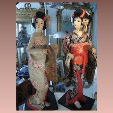 Beautiful Japanese Nishi Geisha dolls in gorgeous  original outfit.