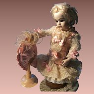 "Gorgeous little dress and hat for Jumeau,Bru, or Steiner  doll from 34cm or 13,4 ""doll."