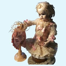 """Gorgeous little dress and hat for Jumeau,Bru, or Steiner  doll from 34cm or 13,4 """"doll."""
